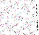 simple cute pattern in small... | Shutterstock .eps vector #535329955