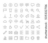 set of linear icons for web... | Shutterstock .eps vector #535332706