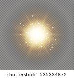 glow light effect. star burst... | Shutterstock .eps vector #535334872
