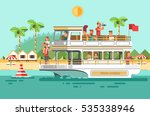 tourists traveling on a cruise... | Shutterstock .eps vector #535338946