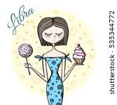 cute zodiac sign libra | Shutterstock .eps vector #535344772