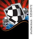 racing sign on the ray... | Shutterstock . vector #53534572