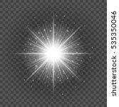 sun with lens flare lights... | Shutterstock .eps vector #535350046