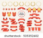 vector collection of decorative ... | Shutterstock .eps vector #535352602