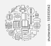 blogging round linear...   Shutterstock .eps vector #535353562