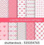 ten different seamless patterns ...