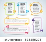 color quote blank templates.... | Shutterstock .eps vector #535355275