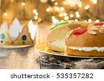 spanish typical epiphany cake ... | Shutterstock . vector #535357282