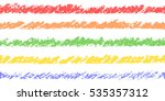 colorful pastel chalk crayon... | Shutterstock .eps vector #535357312