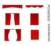 scarlet red silk velvet... | Shutterstock .eps vector #535359226