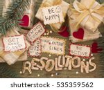 new year's resolutions | Shutterstock . vector #535359562
