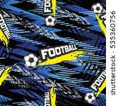 football seamless pattern for...   Shutterstock .eps vector #535360756