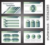 vector green business blue... | Shutterstock .eps vector #535362085
