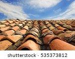 vintage natural tile roof on... | Shutterstock . vector #535373812