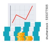 bookkeeping concept with growth ... | Shutterstock .eps vector #535377505