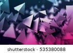 abstract 3d rendering of... | Shutterstock . vector #535380088