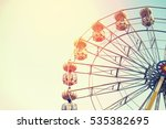 ferris wheel on sky background... | Shutterstock . vector #535382695