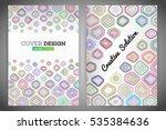 colorful polygonal voronoi... | Shutterstock .eps vector #535384636