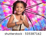 cute african american small... | Shutterstock . vector #535387162