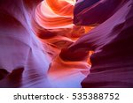 famous antelope canyon near... | Shutterstock . vector #535388752