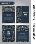 tribal mandala design set.... | Shutterstock .eps vector #535390585