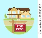 house for rent. vector flat... | Shutterstock .eps vector #535391116