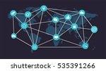 world map with social media...   Shutterstock .eps vector #535391266