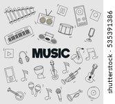 cartoon doodles musical... | Shutterstock .eps vector #535391386