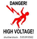 illustration of warning sign of ... | Shutterstock . vector #535393582