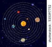 vector illustration of solar... | Shutterstock .eps vector #535397752