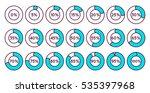 set of blue circle percentage... | Shutterstock .eps vector #535397968