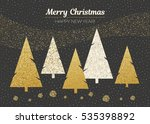 vector merry christmas and... | Shutterstock .eps vector #535398892