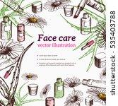 Face Care Frame With Aloe Vera...