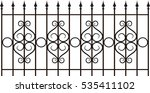 vector iron fence | Shutterstock .eps vector #535411102