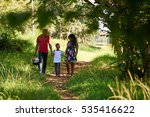 happy black couple with son... | Shutterstock . vector #535416622