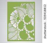 die cut card. laser cut vector... | Shutterstock .eps vector #535418812