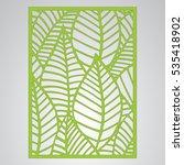 die cut card. laser cut vector... | Shutterstock .eps vector #535418902