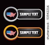 usa shape with flag black...   Shutterstock .eps vector #53542216