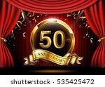 50 years anniversary... | Shutterstock .eps vector #535425472