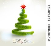 abstract christmas fir tree.  | Shutterstock . vector #535428436