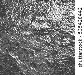 silver crumpled foil background | Shutterstock . vector #535428442