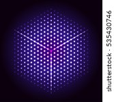dotted cyber hexagon. glowing... | Shutterstock .eps vector #535430746