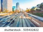view of los angeles highway... | Shutterstock . vector #535432822