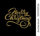 merry christmas  xmas gold... | Shutterstock .eps vector #535435516