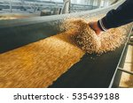 production of wheat flour | Shutterstock . vector #535439188