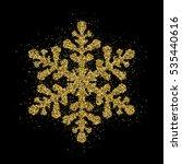 gold glitter christmas... | Shutterstock .eps vector #535440616