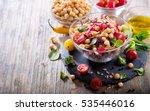 homemade chickpea and veggies...   Shutterstock . vector #535446016