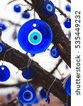 evil eye souvenir on the tree... | Shutterstock . vector #535449232