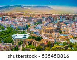cityscape aerial view of malaga ... | Shutterstock . vector #535450816