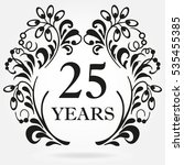 25 Years Anniversary Icon In...